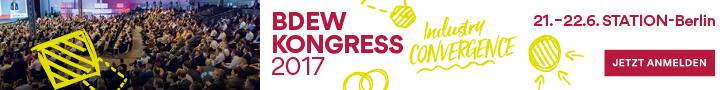 BDEW Kongress 2017, 21.-22.6., Berlin. Jetzt anmelden!
