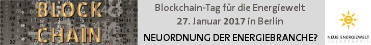 Blockchain-Tag für die Energiewelt, 27. Januar 2017, Berlin