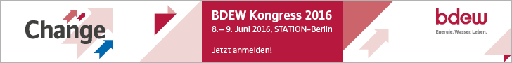BDEW Kongress 2016, 8.-9. Juni 2016 in Berlin