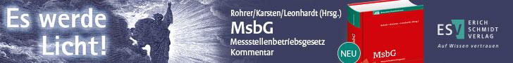 Rohrer/Karsten/Leonhardt (Hrsg.), MsbG Messstellenbetriebsgesetz Kommentar