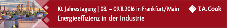 10. Jahrestagung Energieffizienz in der Industrie, 8.-9. November 2016, Frankfurt am Main