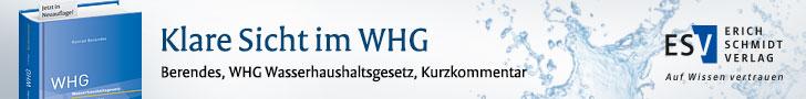 Berendes, WHG Wasserhaushaltsgesetz Kurzkommentar