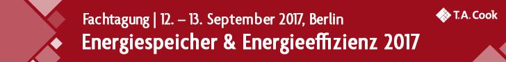 Fachtagung Energiespeicher & Energieeffizienz 2017, 12.-13. September 2017 in Berlin
