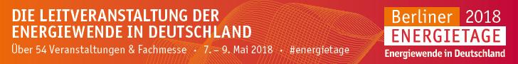 Berliner Energietage, 7.-9. Mai 2018