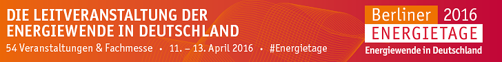 Berliner Energietage, 11.-13. April 2016