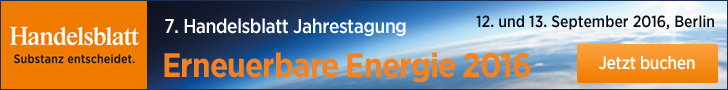 7. Handelsblatt Jahrestagung: Erneuerbare Energie 2016, 12. und 13. September 2016, Berlin