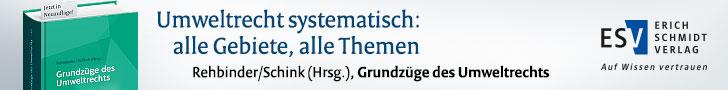 Rehbinder/Schink (Hrsg.), Grundzüge des Umweltrechts