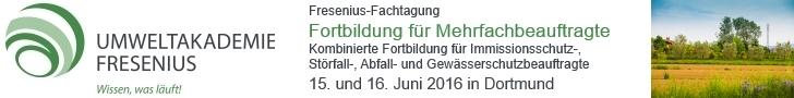 Fresenius Fachtagung: Fortbildung für Mehrfachbeauftragte, 15. und 16. Juni 2016 in Dortmund