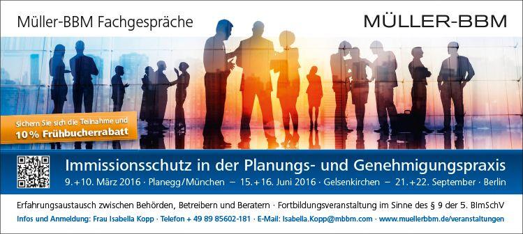 10% Frühbucherrabatt: Immissionsschutz in der Planungs- und Genehmigungspraxis