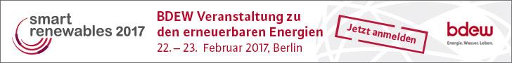 Smart Renewables, 22. – 23. Februar 2017, Berlin